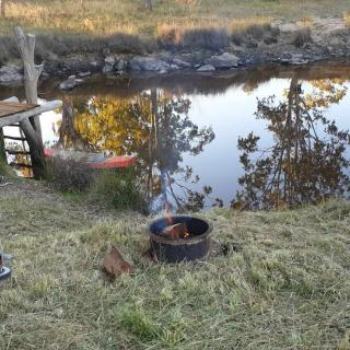 Camping at The Mill on Canal Creek, Leyburn